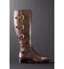 NIB Ecco Hobart Riding Boot Brown Tall Leather Knee High Zip Womens Sz 37 39