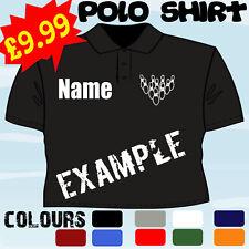 Diez Pin 10 Bolos reproductor personalizado T camisa Polo