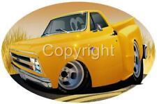 1967 STEPSIDE PICKUP CARTOON T-SHIRT #6770 C-10 automotive car art