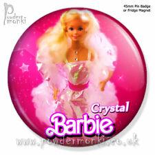 "BARBIE ""Crystal Barbie"" ~ Pin Badge or Fridge Magnet [45mm] Retro Toys"