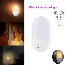 Plug In 2 LED Auto Hallway Sensor Night Light Kitchen Bedroom Lamp Lighting Bulb