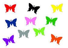 10x Bügelbild Bügelbilder Aufnäher Patch Miniblings 25mm FLOCK Schmetterling
