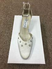 Satén color marfil Bridal Dama Boda Zapatos todos s Pure & preciosos Beau