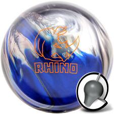 Bowling Ball Brunswick Rhino Black Blue Silver 10-16 lbs, Reactive, Strike Ball