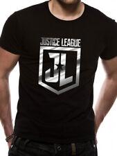Official JUSTICE LEAGUE movie  -= FOIL =- Logo - unisex T Shirt - S M L XL XXL