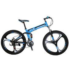 "Mountain bike Foldable Frame 26"" 21 Speed Folding Bicycle Full Suspension MTB"