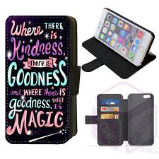 CINDERELLA Disney Quote Wallet Flip Phone Case iPhone & Galaxy Compatible (G)