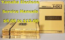 Yamaha Electone Organ Service Manuals:  HX3/5 -  Last one!