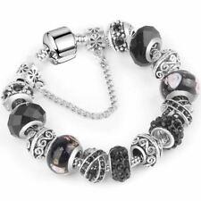 1 Pc Women Charm 925 Plated Silver Chain Bracelets & Bangles Jewelry
