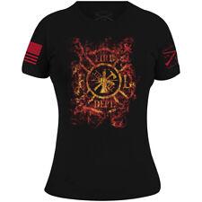 Grunt Style Women's Cross Fire Crewneck T-Shirt - Black