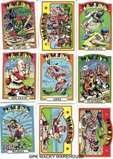 TOPPS WACKY PACKAGES OLD SCHOOL 4 COMPLETE BASEBALL SET 9 CARDS BLUE WEAKIES