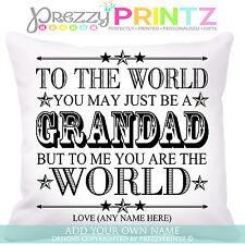 ❤ Personalizado Grandad Regalo Día Del Padre Cojín Recuerdo Navidad Cumpleaños ❤