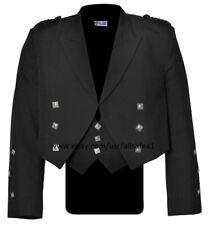 "Prince Charlie Kilt Jacket With Waistcoat/Vest - Sizes 36""-54"" US Seller"