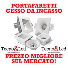 Porta Faretto in Gesso da Incasso bianco vari lampade led GU10 Controsoffitti