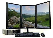 Modern Office PC Computer bundle Desktop Triple Monitor i5 Quad Win 10 PRO Wifi