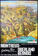 Affiche chemin de fer Suisse - Montreux Oberland Bernois