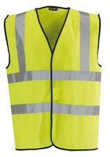 Jaune Hi Vis Haut Viz visibilité Vest EN471 Gilet de sécurité S-XXXL