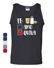 Te Amo or Tequila Tank Top Funny Cinco De Mayo & Drinko Mexican Sleeveless