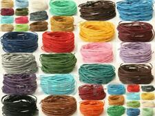 Smooth coated HEMP string cord twine 1mm Jewelry Macrame Craft DIY 36clrs 5-40m