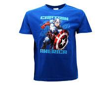 Camiseta Capitan America Azul Real Niño