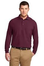 Port Authority K500LS Mens Long Sleeve Silk Touch Polo Golf Shirt NEW