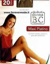 12 Collant Donna BC XXXL velati, doppio tassello fronte retro art Maxi Platino