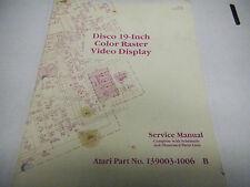 ATARI DISCO 19-inch COlor Raster Video Display Service manual.