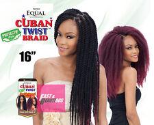 "ShakeNGo Freetress Equal CUBAN TWIST BRAID 16"" Synthetic Braiding Hair Extension"