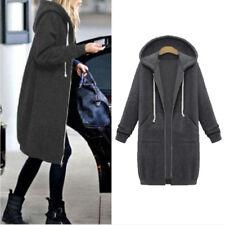 Fashion Women's Long Sweater Warm Jacket Hoodie Hooded Zipper Sweatshirt Coat