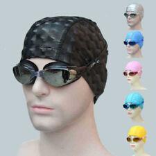 Durable Flexible Sporty Latex Swimming Waterproof Swim Cap Bathing Hat Unisex