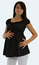 Cute Casual Black Short Sleeve Maternity Top S-M-L-XL