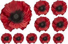 Calcomanías de flor de amapola roja coche Gráficos Pegatinas Pared Decoración de ventana recordar