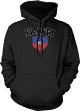 Haiti Flag Crest Haitian Ayiti National Country Pride Hoodie Pullover