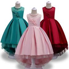 NUOVI Eleganti Pizzo Fiore Ragazze Abito Principessa Sposa Festa di compleanno bambini vestiti