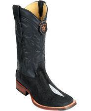 Los Altos Genuine Stingray Square Toe TPU Rubber Sole Western Cowboy Boot D