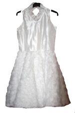 Weißes festliches Kleid Blumen für Hochzeit Kommunion Gr. 134 140 146