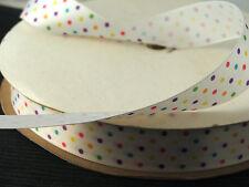 "22mm/7/8"" Satin Ribbon Multi suizo punto - 2m longitudes para Coser & Crafts"
