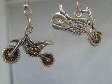 Bike, motor bikes earrings, choice of 2, charms, Dirt bike, or large bike,