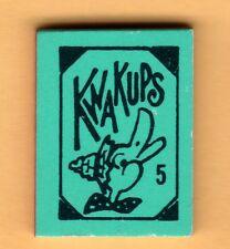 Kwakups #5 Matte Aqua-Blue Color Mini Joke Book 1970 Vending Gumball Prize Charm