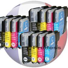 Pack 12 cartouches d'encre pour imprimante Brother série LC1100 LC990 LC980 XL