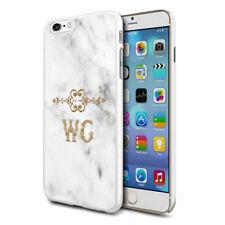 personnalisé marbre étui de téléphone pour apple Samsung Initiale Texte Nom - 71