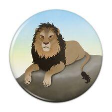 Lion on a Rock Pinback Button Pin Badge
