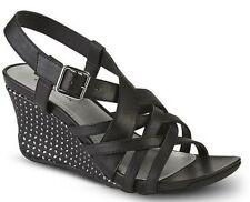 Womens Shoe Size 7.5 - 8 Covington Black Shoes Strappy Sandal 7 1/2 Wedge Heel