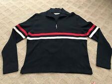 Golf Callaway Women Long Sleeves 1/2 Zipper Pullover Black CW55111 BLACK Striped