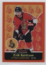 2015 O-Pee-Chee Platinum Retro Rainbow Orange #R48 Erik Karlsson Ottawa Senators