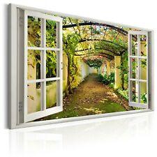 FENSTERBLICK ALLEE WEG Wandbilder xxl Bilder Vlies Leinwand c-C-0089-b-a