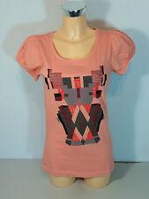"""""""ICHI"""" Damen T-Shirt  Gr. S - XL  lachs mit Motiv   Neu mit Etikett"""