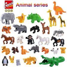 Duplos Animal Model Figures big Building Block Sets Elephant kids educational