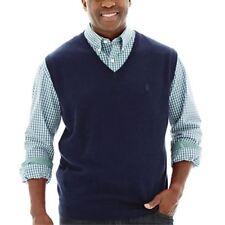 IZOD Essential Sweater Vest Midnight Size L NEW Msrp $60.00