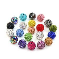 20pcs Crystal Disco Beads Rhinestone bead DIY Bracelet Necklace Fashion Jewelry